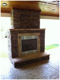 Prefabricated brick outdoor fireplace masonry Pre fab outdoor fireplace